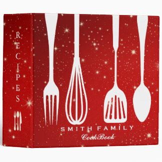 Personalized Chalkboard Family Recipe Cookbook Vinyl Binders