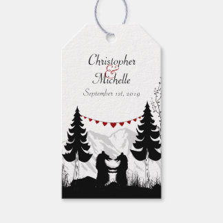 Personalized Charming Mountain Bears Wedding Pack Of Gift Tags