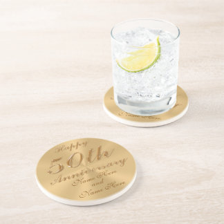PERSONALIZED Cheap 50th Wedding Anniversary Gifts Beverage Coaster
