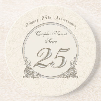 Personalized Cheap Anniversary Gifts 25 years Coaster