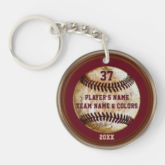 Personalized Cheap Baseball Gifts for Boys Double-Sided Round Acrylic Keychain
