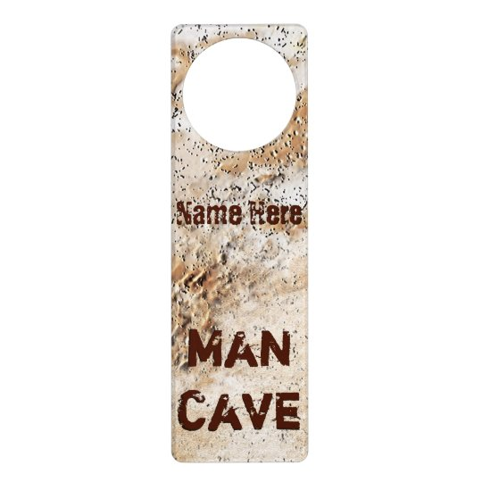 Personalized Cheap Man Cave Gifts Type in NAME Door Hanger