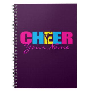 Personalized Cheer Cheerleading Purple Note Books
