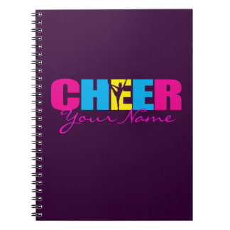 Personalized Cheer Cheerleading Purple Notebooks