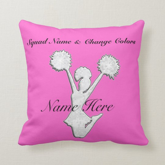 Personalized Cheer Team Gift Ideas Throw Pillow