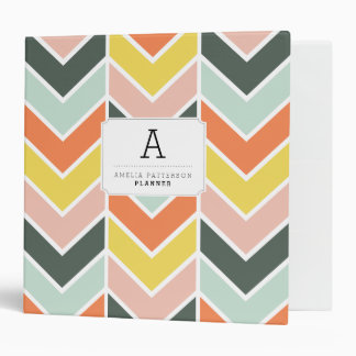 Personalized | Cheerful Chevron Binders