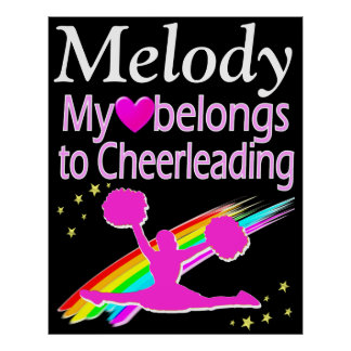 PERSONALIZED CHEERLEADER LOVE POSTER