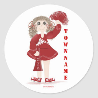Personalized Cheerleader Stickers