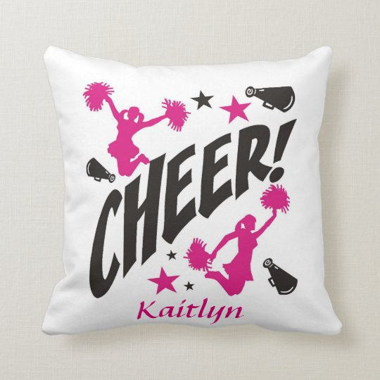 Personalized Cheerleader Throw Pillow
