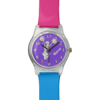 Personalized Cheerleader Watch, Your Colors, NAME Watch