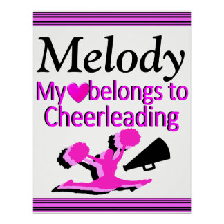 PERSONALIZED CHEERLEADING LOVE POSTER
