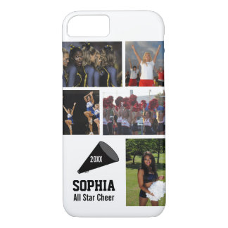 Personalized Cheerleading Photo Collage Name Team iPhone 7 Case