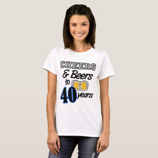 Personalized Cheers/Beers 40th Birthday Shirt