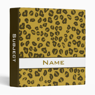 Personalized Cheetah Animal Print School Binder
