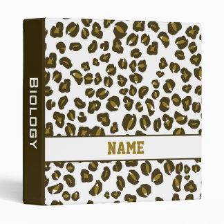 Personalized Cheetah School Binder