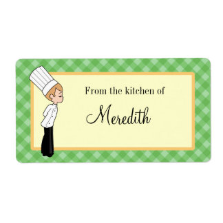 Personalized Chef Large Label #2
