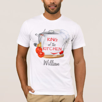 Personalized chef t-shirt King of the Kitchen