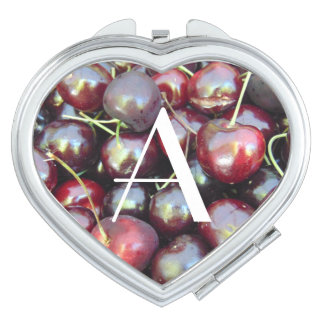 Personalized Cherries Compact Mirrors For Makeup