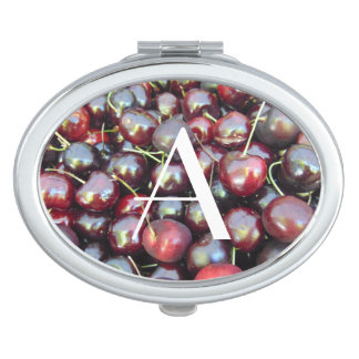 Personalized Cherries Compact Vanity Mirrors