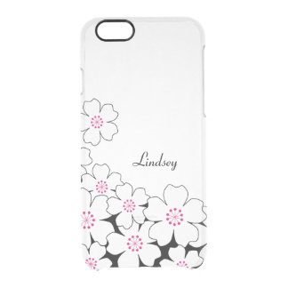 Personalized Cherry Blossom Clear iPhone Case