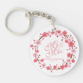 Personalized Cherry Blossom Wreath | Keychain