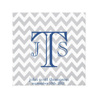 Personalized Chevron Monogram Nursery Print