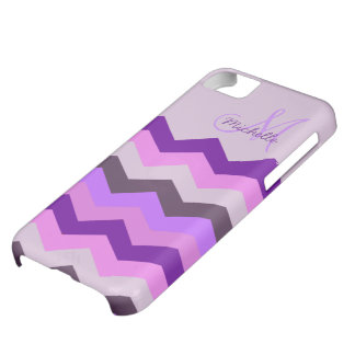 Personalized Chevron Purple Blast iPhone 5C Case