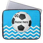 Personalized Chevron Soccer Laptop Cases for Girls