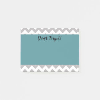 Personalized Chevron & Teal Post it Notes