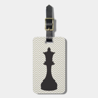 Personalized Chic Chevron Chess Luggage Tag