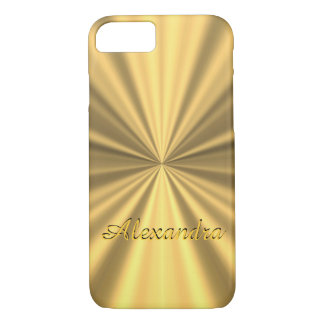 Personalized chic elegant golden iPhone 7 case