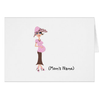 Personalized Chic Mom/Pregnant Woman Stationery Card
