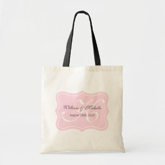 Personalized chic monogram wedding logo tote bag