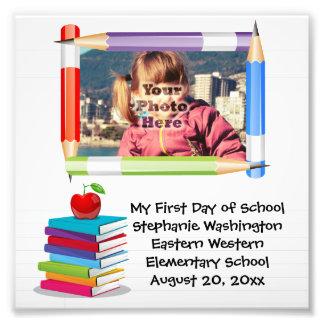 Personalized Children s Kids School Photo Frame Art Photo