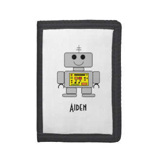 """Personalized Children's Robot Wallet"" Tri-fold Wallet"