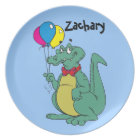 Personalized Child's Alligator Balloon Plate