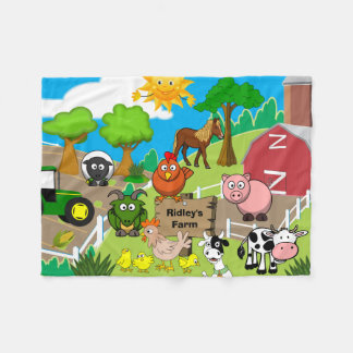 Personalized Child's Farm Fleece Blanket