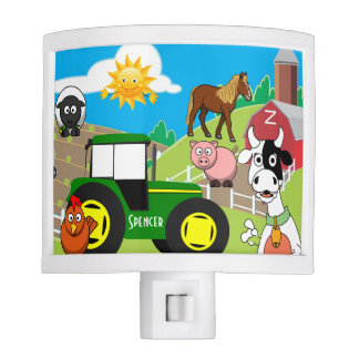 Personalized Child's Farm Night Lites