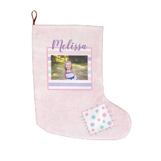 Personalized Child's Photo Christmas Stocking