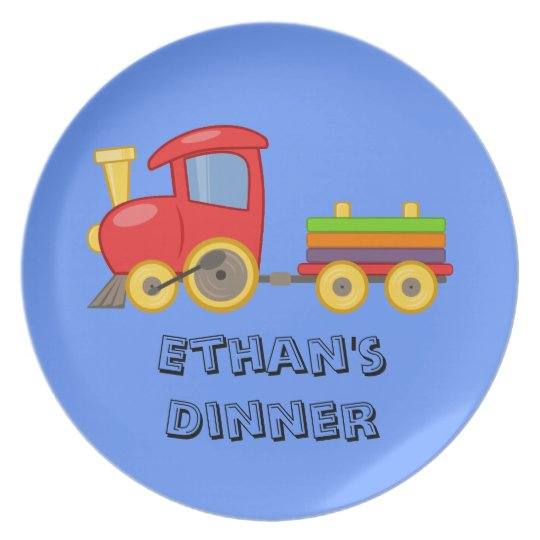 Personalized Child's Train Plate