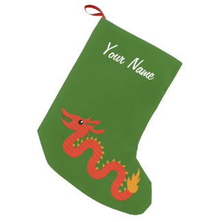 Personalized Chinese Dragon Christmas Stocking