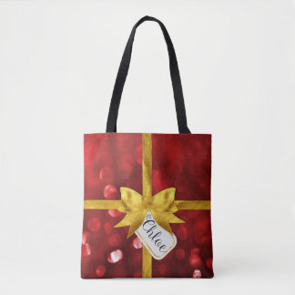Personalized Chloe Christmas Present Tote Bag