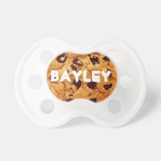 Personalized Chocolate Chip Cookie Baby Pacifier