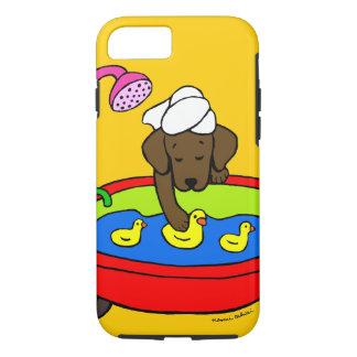 Personalized Chocolate Labrador Rubber Ducks Case