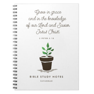 Personalized Christian Bible Study Notebook
