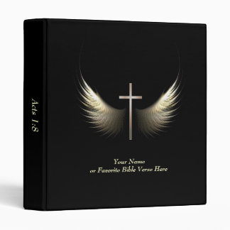 Personalized Christian Cross With Bible Verse Binders