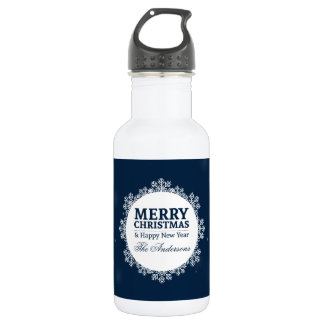 Personalized Christmas and New Year Water Bottle