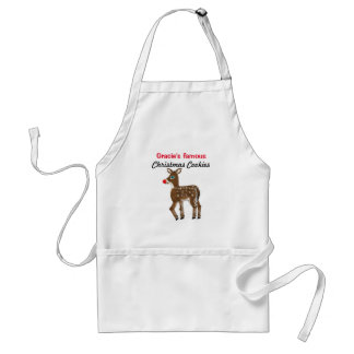 Personalized Christmas Baking Cookies Reindeer Standard Apron