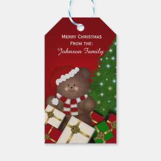 Personalized Christmas Bear Tags