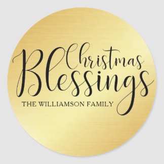 Personalized Christmas Blessings Envelope Seal